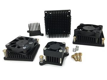 Pushpin Attached Active Heat Sinks