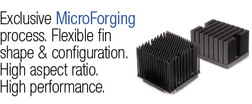 Slide1 Heat Sinks by MicroForging technology